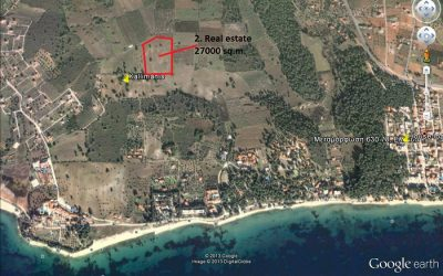 Parcel of 27.000 sq.m. at Sithonia Halkidiki (Metamorfosi) for co-management.