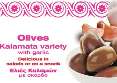 Kalamata Olices with garlic